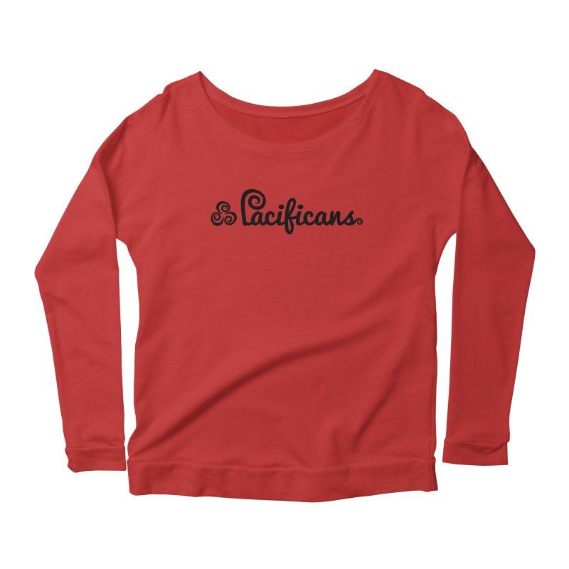 Pacificans logo Women's Scoop Neck Longsleeve T-Shirt by Pacificans' Artist Shop