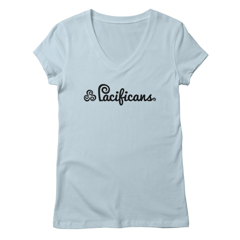 Pacificans logo Women's V-Neck by Pacificans' Artist Shop