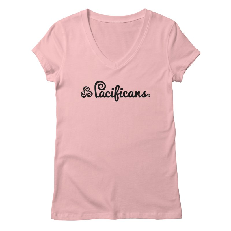 Pacificans logo Women's Regular V-Neck by Pacificans' Artist Shop