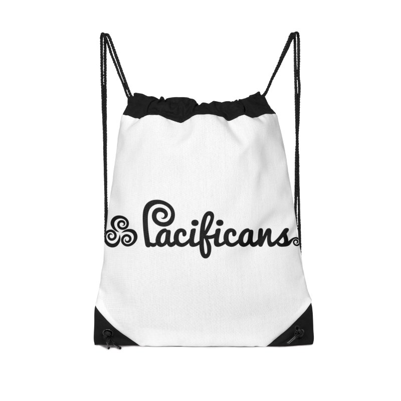 Pacificans logo Accessories Drawstring Bag Bag by Pacificans' Artist Shop