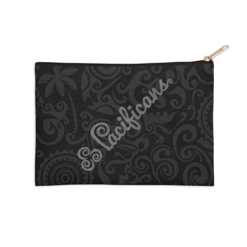 Pacificans logo+print BK Accessories Zip Pouch by Pacificans' Artist Shop