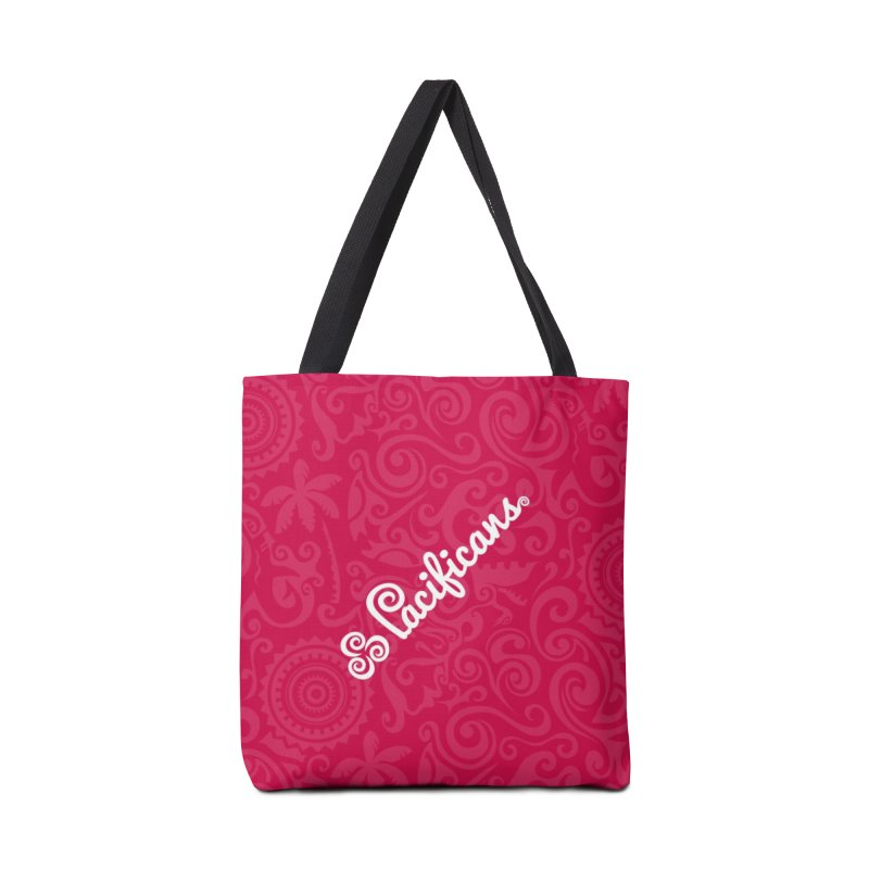 Pacificans logo+print RED Accessories Bag by Pacificans' Artist Shop
