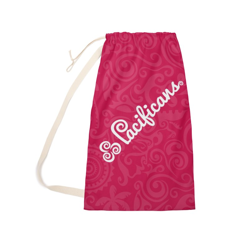 Pacificans logo+print RED Accessories Laundry Bag Bag by Pacificans' Artist Shop