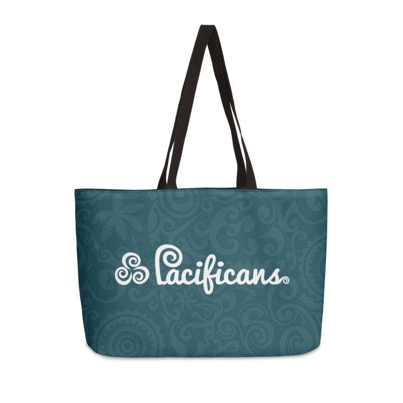 Pacificans logo+print BLUE Accessories Weekender Bag Bag by Pacificans' Artist Shop