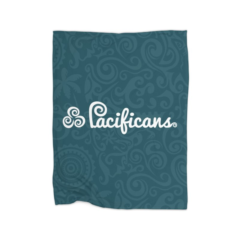 Pacificans logo+print BLUE Home Fleece Blanket Blanket by Pacificans' Artist Shop