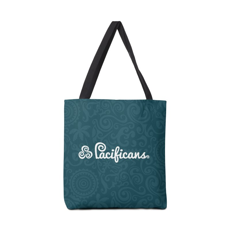 Pacificans logo+print BLUE Accessories Tote Bag Bag by Pacificans' Artist Shop