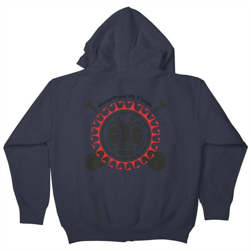 Navigators of the Pacific Kids Zip-Up Hoody by Pacificans' Artist Shop