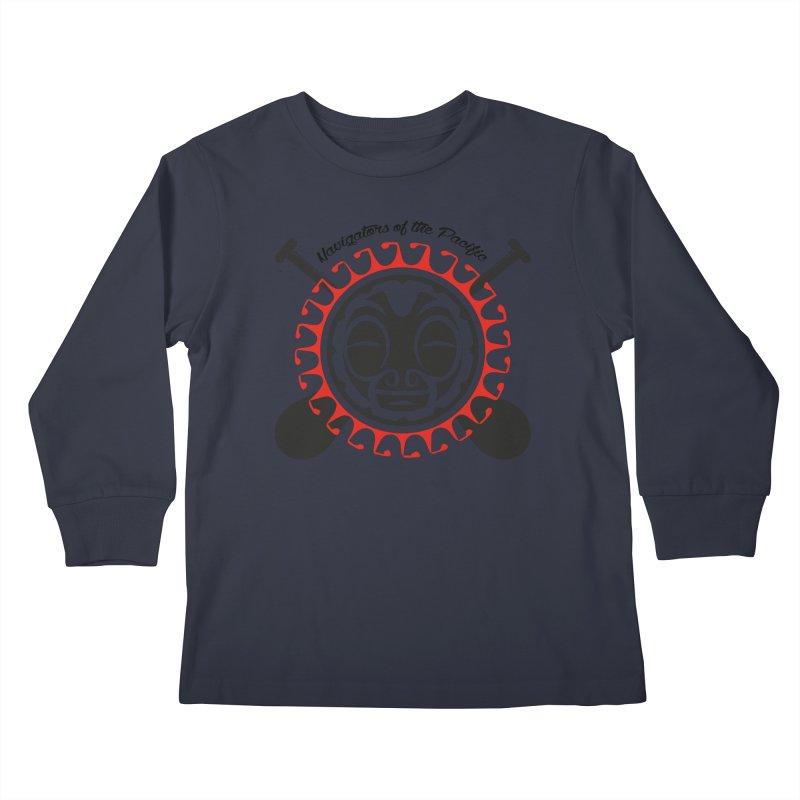 Navigators of the Pacific Kids Longsleeve T-Shirt by Pacificans' Artist Shop