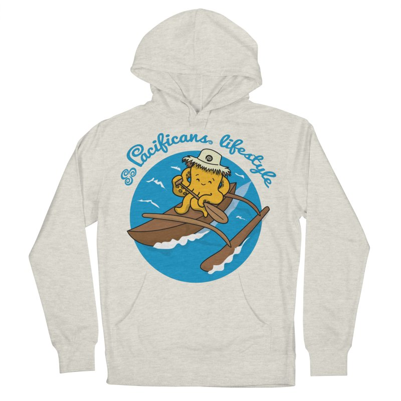 Heke va'a Men's French Terry Pullover Hoody by Pacificans' Artist Shop