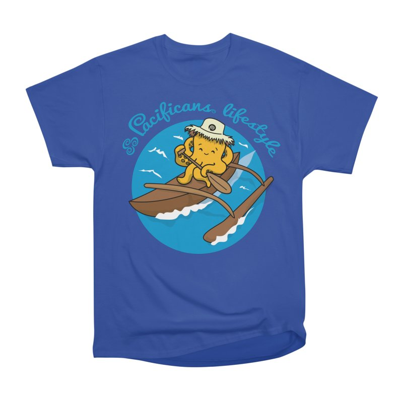 Heke va'a Men's Heavyweight T-Shirt by Pacificans' Artist Shop