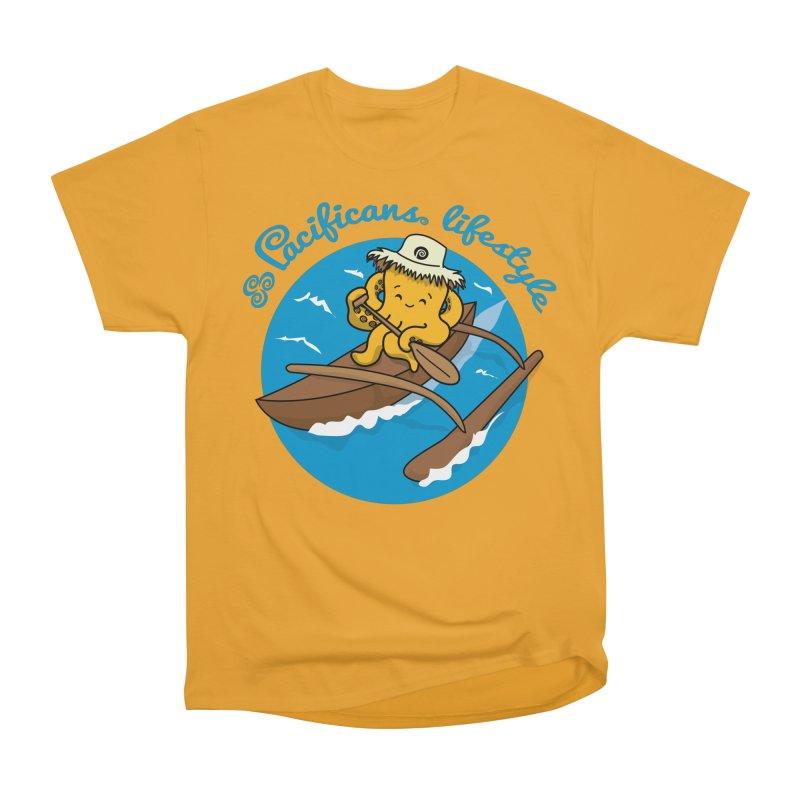 Heke va'a Women's Heavyweight Unisex T-Shirt by Pacificans' Artist Shop