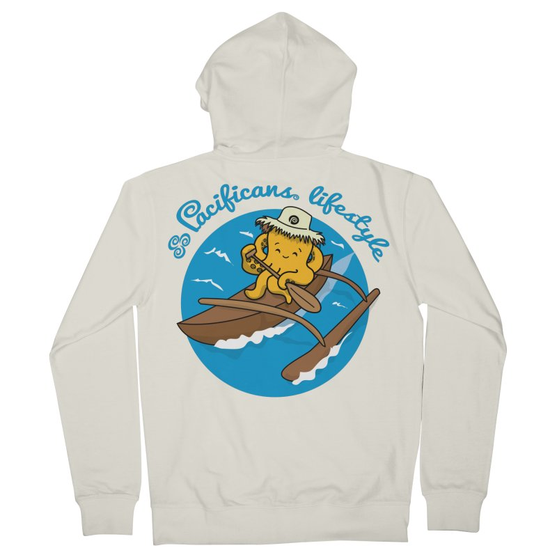 Heke va'a Men's French Terry Zip-Up Hoody by Pacificans' Artist Shop