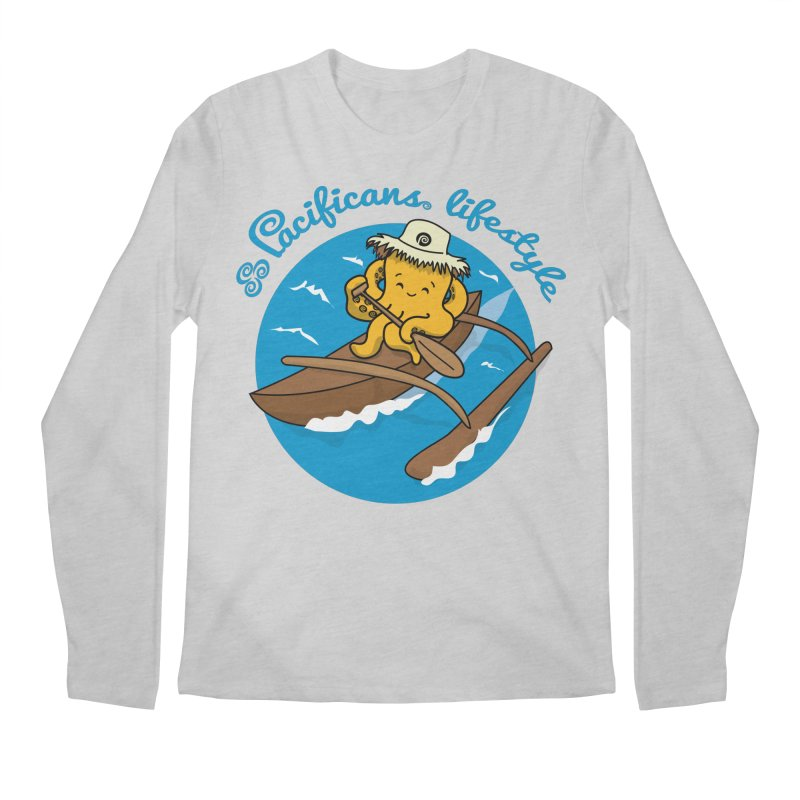 Heke va'a Men's Regular Longsleeve T-Shirt by Pacificans' Artist Shop