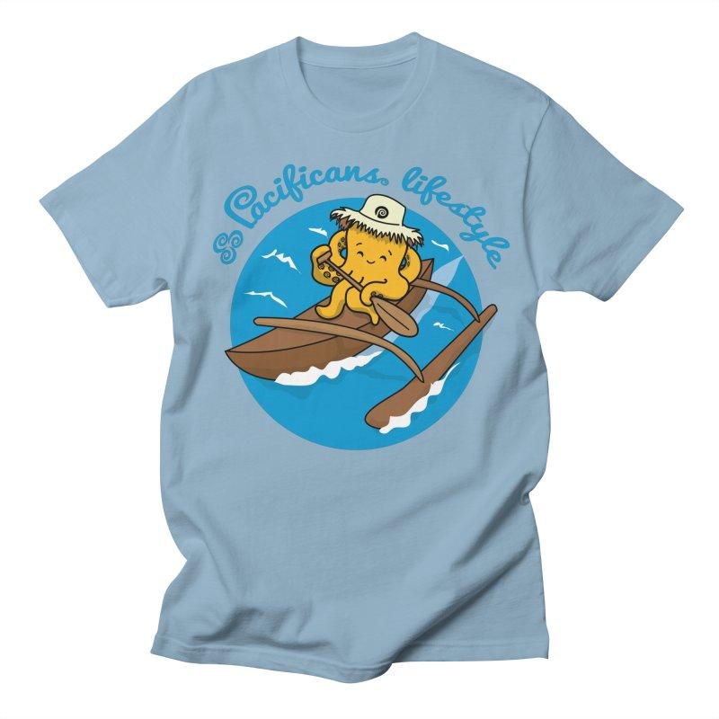 Heke va'a Men's Regular T-Shirt by Pacificans' Artist Shop