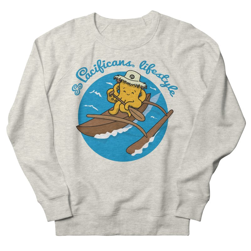 Heke va'a Women's French Terry Sweatshirt by Pacificans' Artist Shop