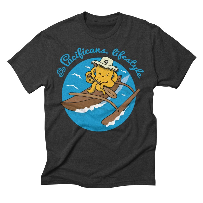 Heke va'a Men's Triblend T-Shirt by Pacificans' Artist Shop