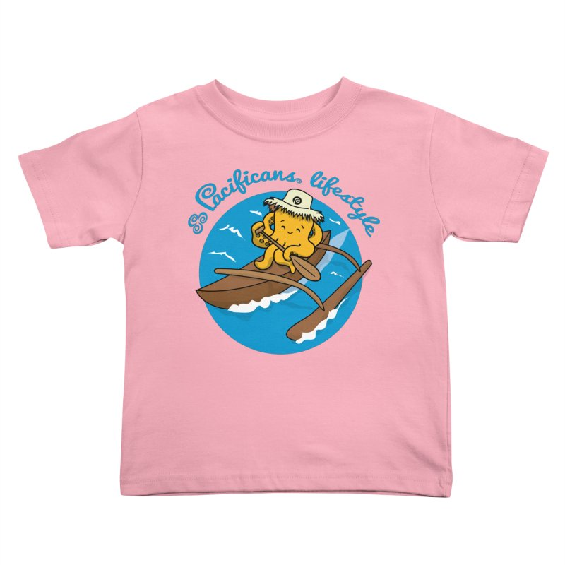 Heke va'a Kids Toddler T-Shirt by Pacificans' Artist Shop