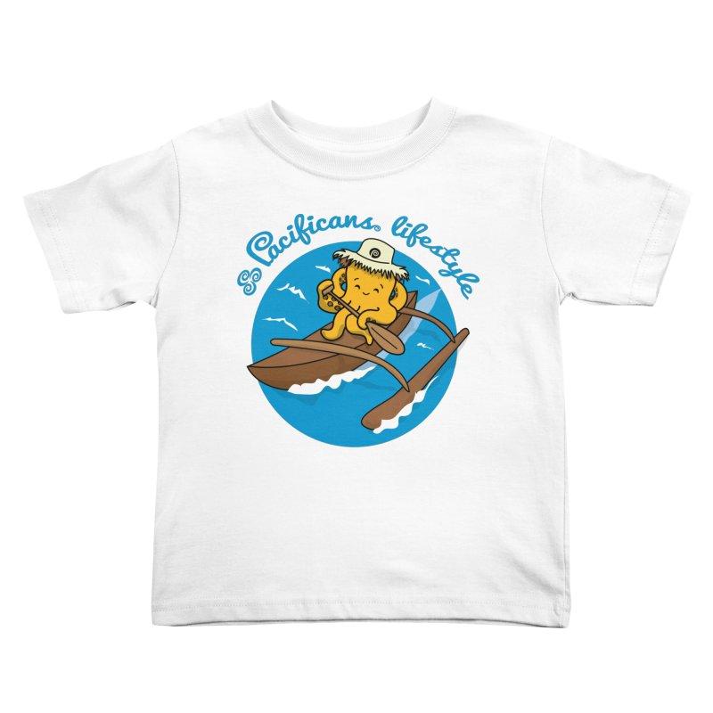 Heke va'a Kids Toddler T-Shirt by Pacificans' Artist Shop