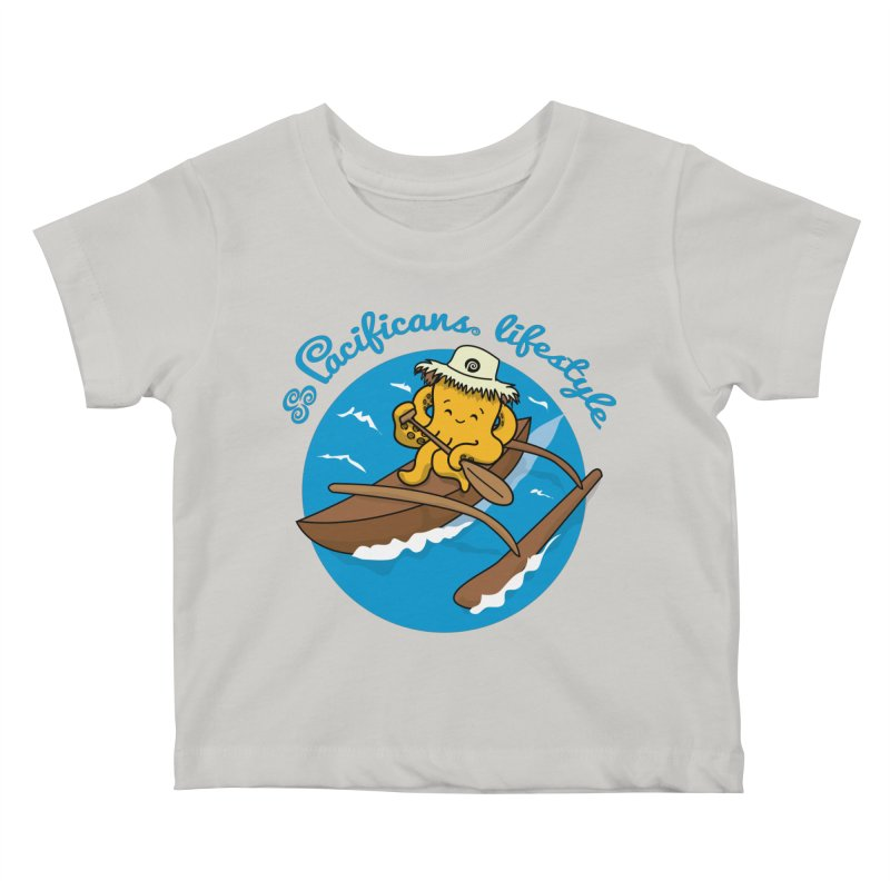Heke va'a Kids Baby T-Shirt by Pacificans' Artist Shop