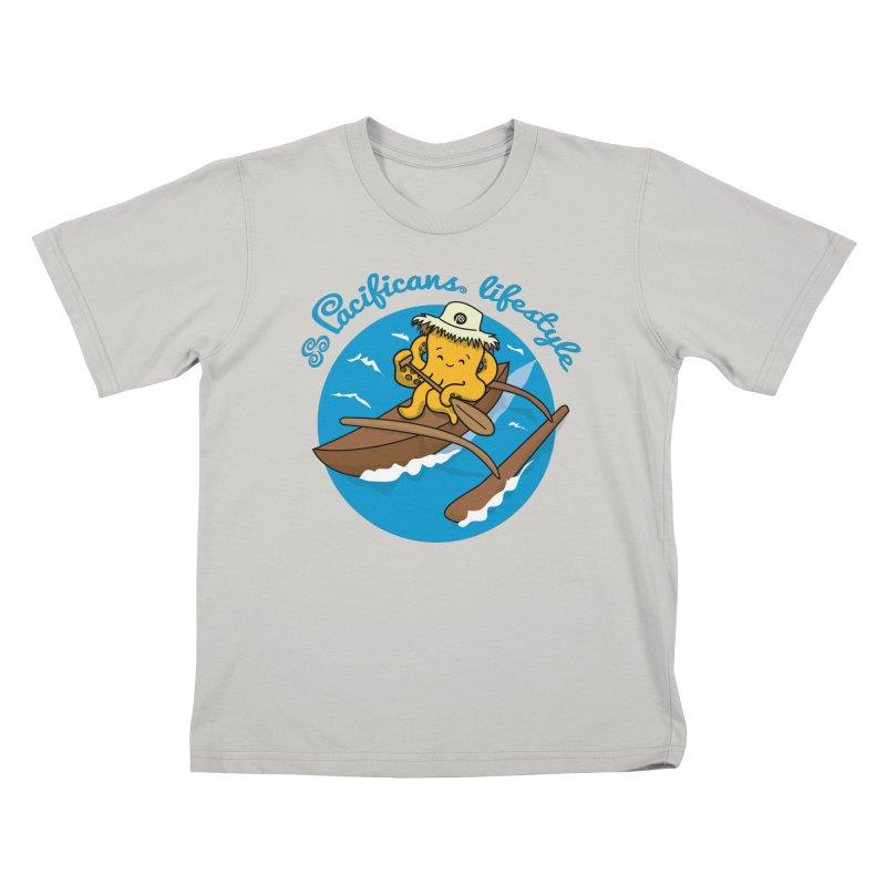Heke va'a Kids T-shirt by Pacificans' Artist Shop
