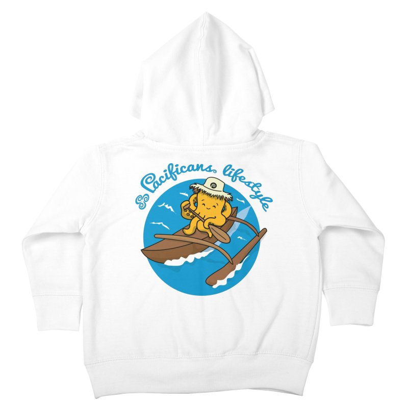 Heke va'a Kids Toddler Zip-Up Hoody by Pacificans' Artist Shop