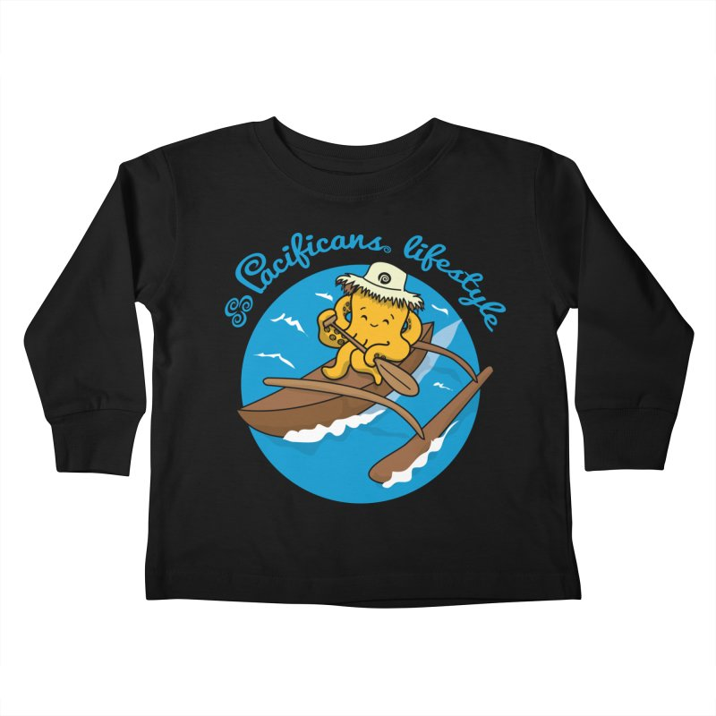 Heke va'a Kids Toddler Longsleeve T-Shirt by Pacificans' Artist Shop