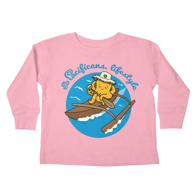 Heke va'a Kids Toddler Longsleeve T-Shirt by Pacificans' Artist Shop