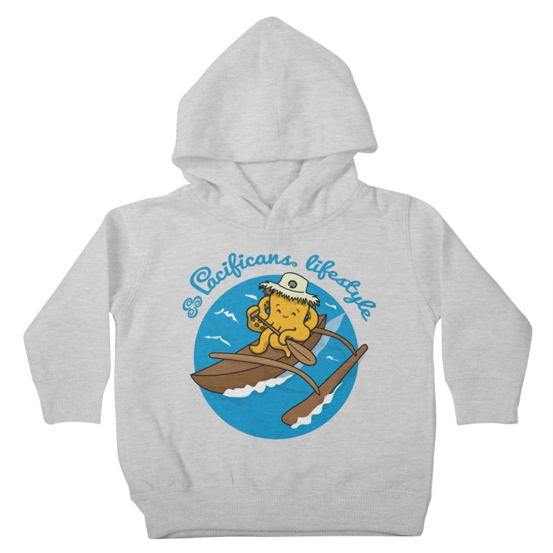 Heke va'a Kids Toddler Pullover Hoody by Pacificans' Artist Shop