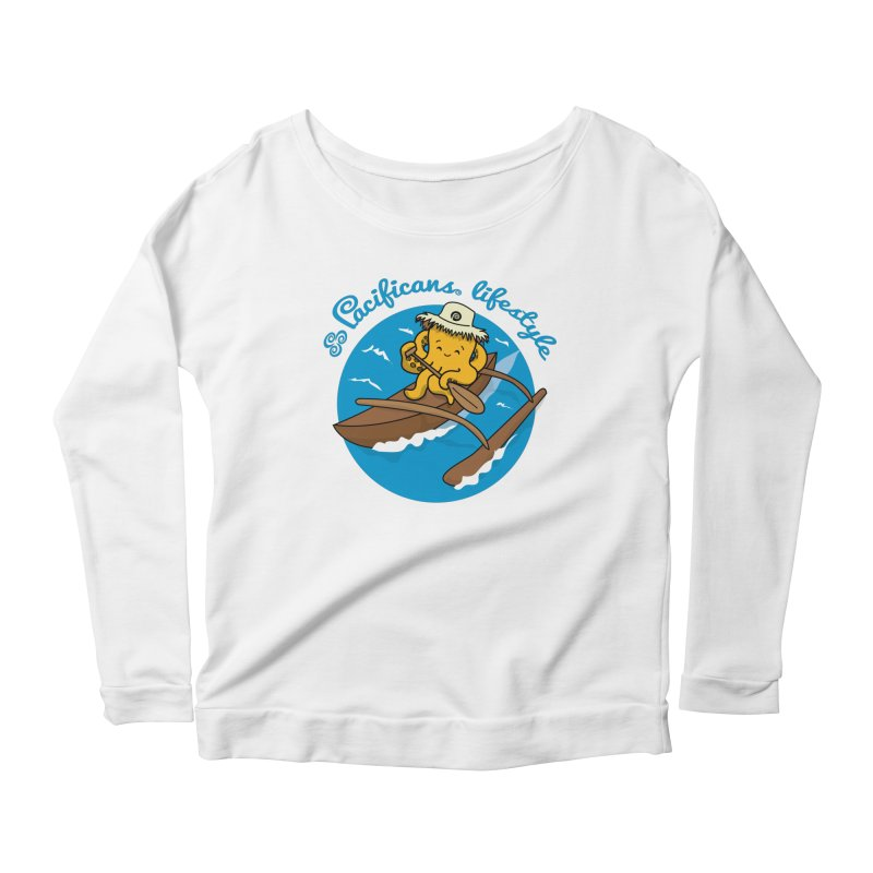 Heke va'a Women's Longsleeve Scoopneck  by Pacificans' Artist Shop
