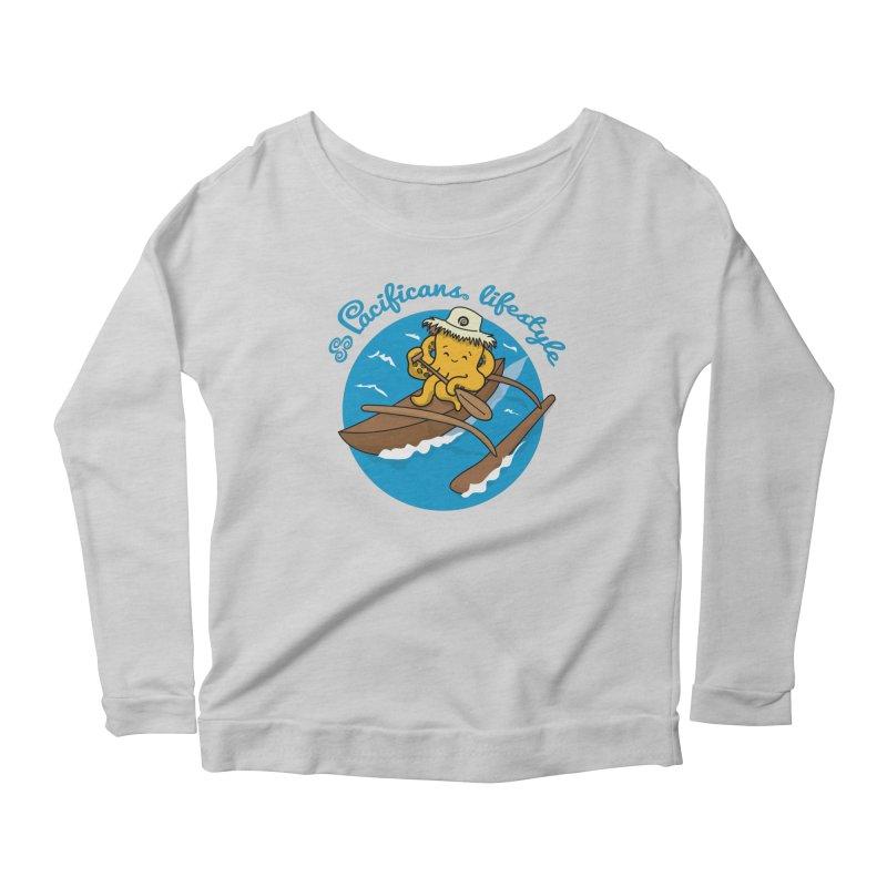 Heke va'a Women's Scoop Neck Longsleeve T-Shirt by Pacificans' Artist Shop