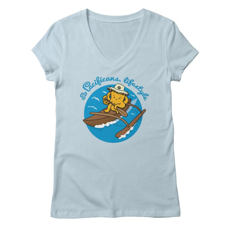 Heke va'a Women's V-Neck by Pacificans' Artist Shop