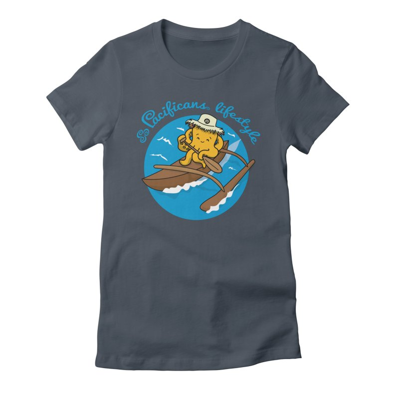 Heke va'a Women's Fitted T-Shirt by Pacificans' Artist Shop