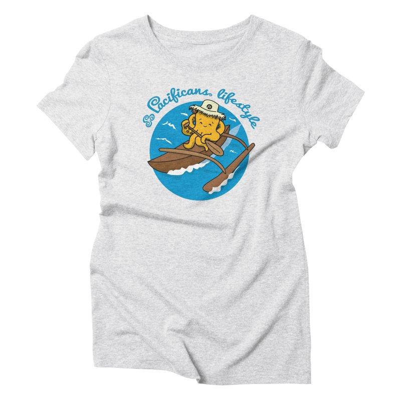Heke va'a Women's Triblend T-Shirt by Pacificans' Artist Shop