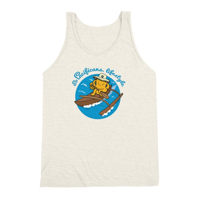 Heke va'a Men's Triblend Tank by Pacificans' Artist Shop