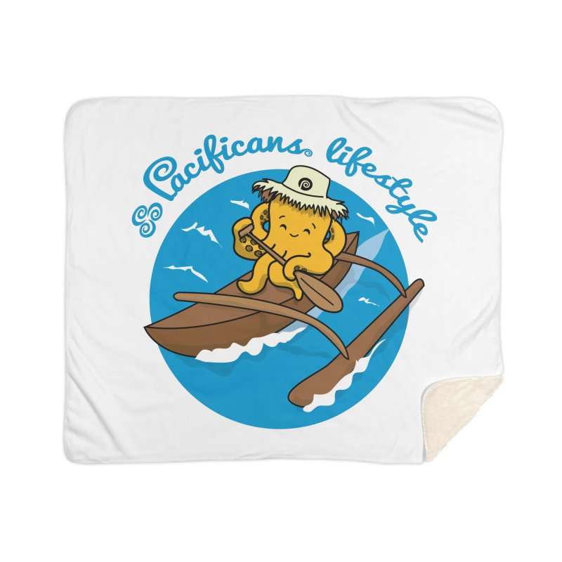 Heke va'a Home Sherpa Blanket Blanket by Pacificans' Artist Shop