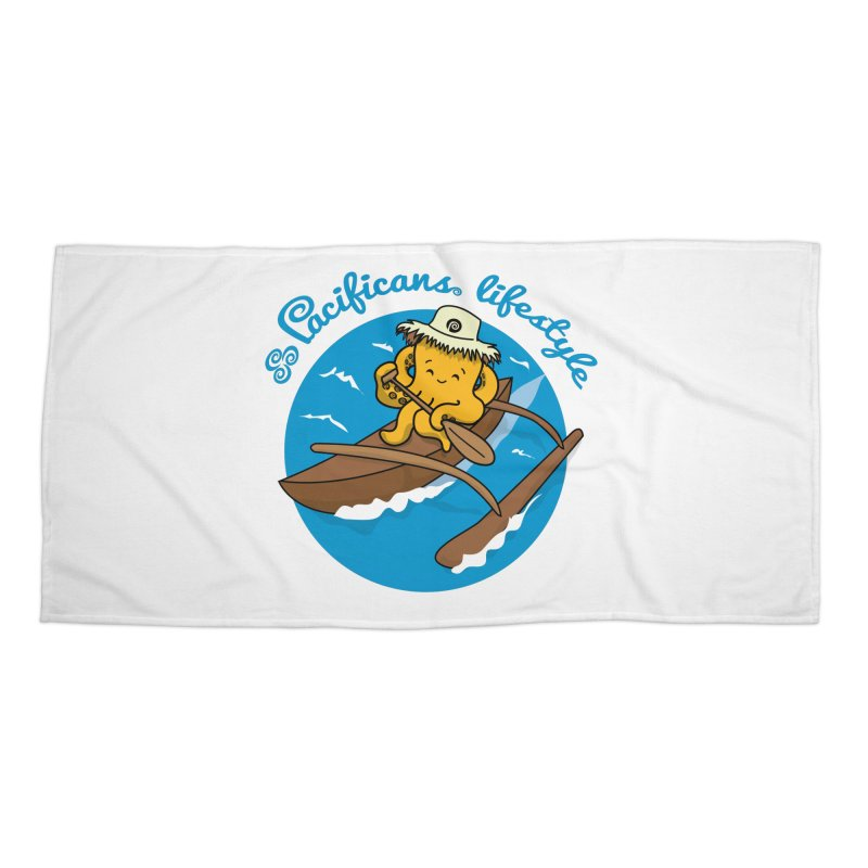Heke va'a Accessories Beach Towel by Pacificans' Artist Shop