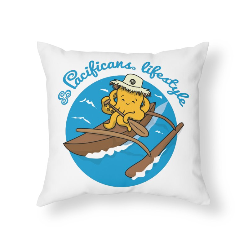Heke va'a Home Throw Pillow by Pacificans' Artist Shop