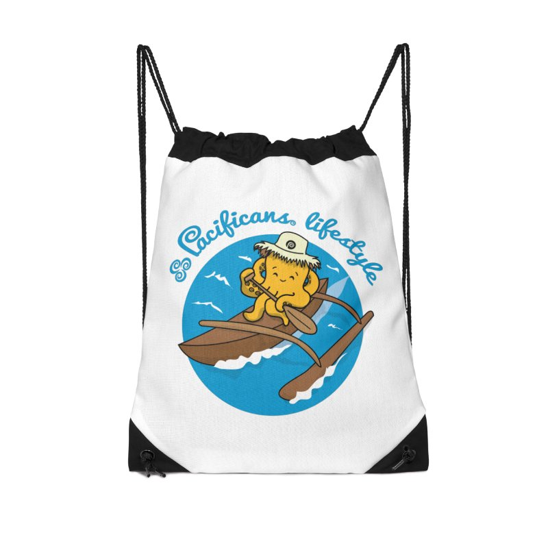 Heke va'a Accessories Drawstring Bag Bag by Pacificans' Artist Shop