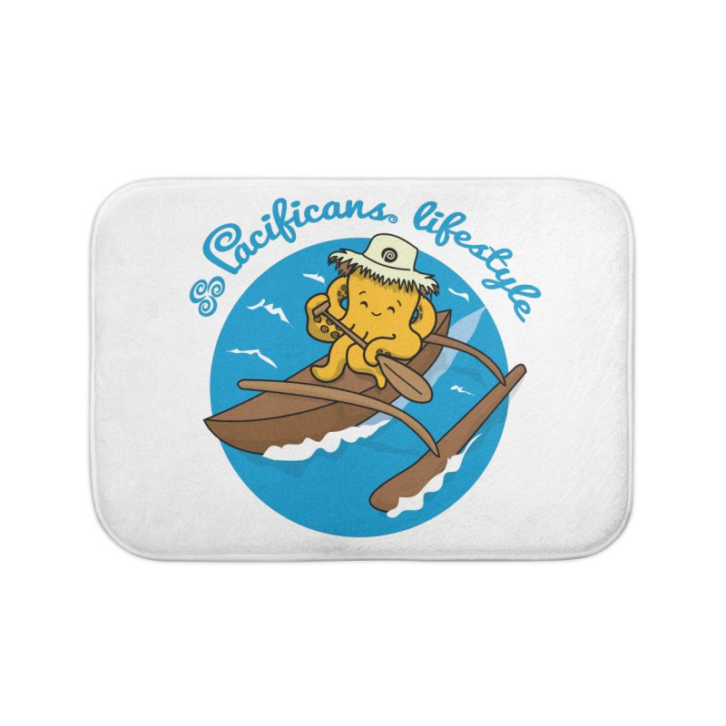 Heke va'a Home Bath Mat by Pacificans' Artist Shop