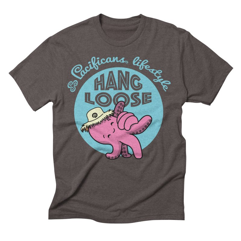 Heke Hang Loose Men's Triblend T-Shirt by Pacificans' Artist Shop