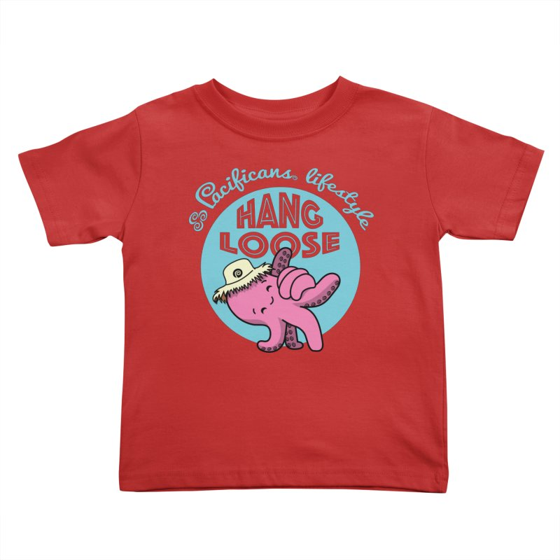 Heke Hang Loose Kids Toddler T-Shirt by Pacificans' Artist Shop