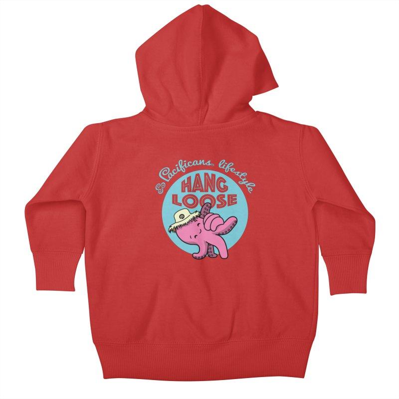 Heke Hang Loose Kids Baby Zip-Up Hoody by Pacificans' Artist Shop