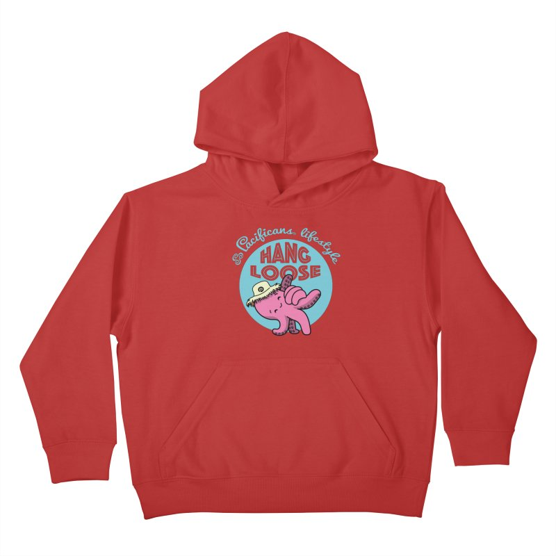 Heke Hang Loose Kids Pullover Hoody by Pacificans' Artist Shop