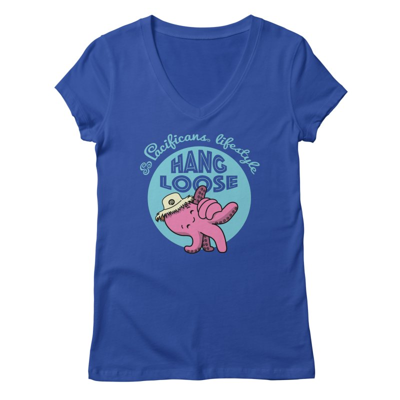 Heke Hang Loose Women's Regular V-Neck by Pacificans' Artist Shop