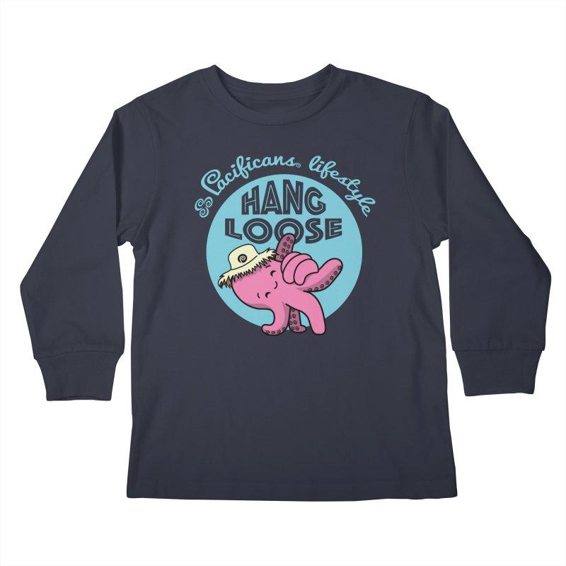 Heke Hang Loose Kids Longsleeve T-Shirt by Pacificans' Artist Shop