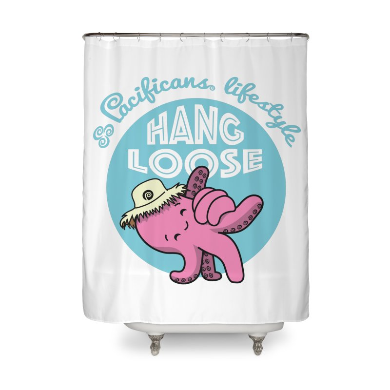 Heke Hang Loose Home Shower Curtain by Pacificans' Artist Shop