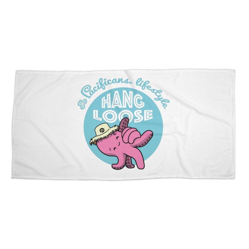 Heke Hang Loose Accessories Beach Towel by Pacificans' Artist Shop