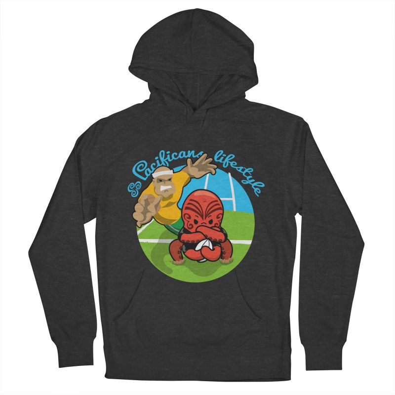 Heke Black Women's French Terry Pullover Hoody by Pacificans' Artist Shop