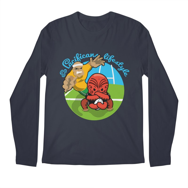 Heke Black Men's Longsleeve T-Shirt by Pacificans' Artist Shop