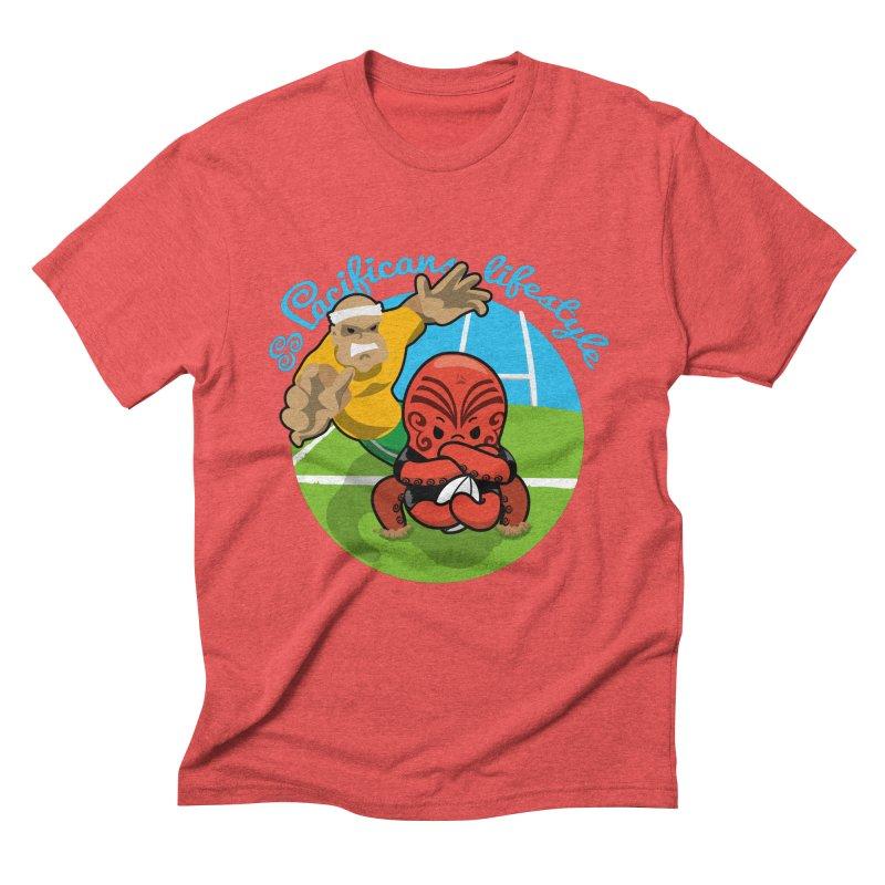 Heke Black Men's Triblend T-Shirt by Pacificans' Artist Shop